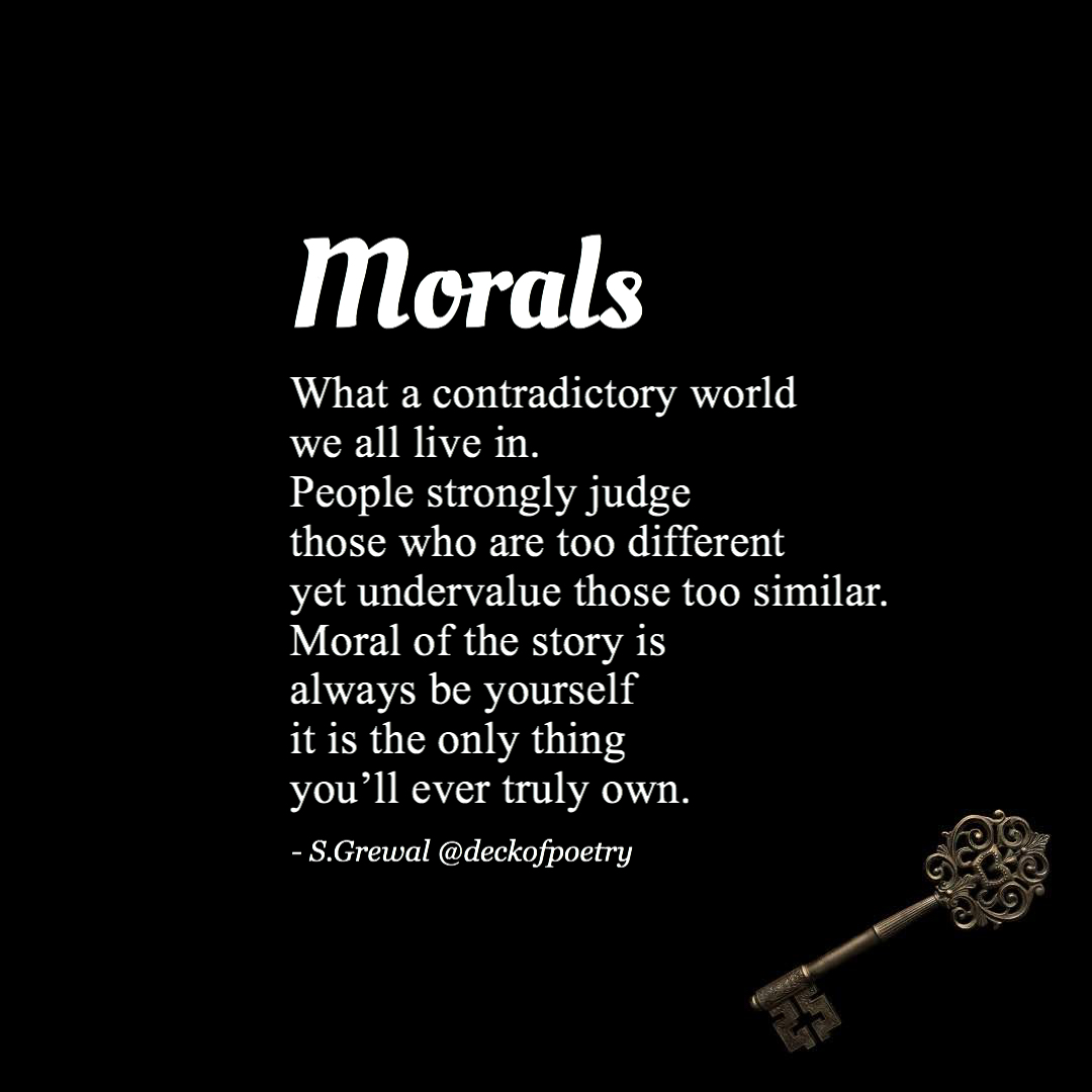 Morals – Own Yourself